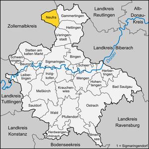 Neufra - Image: Karte Neufra