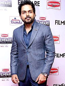Karthi at 62nd Filmfare awards south.jpg