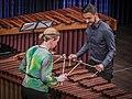 Katarzyna Myćka und Conrado Moya vom Marimbaphon Quartett am 1. Mai 2016 im Strawinsky Saal Donaueschingen 3 (26239349003).jpg