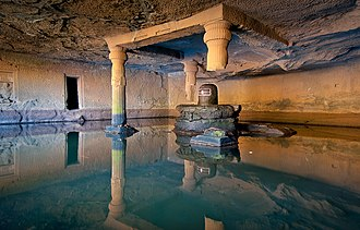 Harishchandragad - Kedareshwar Cave. Local legend holds that when the fourth pillar breaks, the world will come to an end.