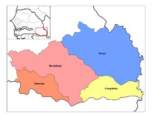 Kédougou Region - Image: Kedougou arrondissements