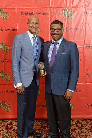 Key & Peele - Key (left) and Peele (right) attending the Peabody Awards in 2014