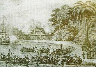 Riau-Lingga Sultanate - The region witnessed the triumph of Haji Fisabillah of Johor-Riau during the battle against the Dutch East India Company on 6 January 1784 in Tanjung Pinang, Riau. It was the largest military campaign in the Strait of Malacca during the 18th century.