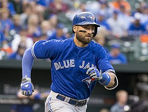 Kevin Pillar - Pillar with the Toronto Blue Jays in 2015