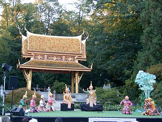 Dance in Thailand - Khon performance in 2007, Germany.