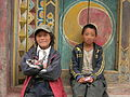 Kids along Sichuan highway S217.JPG