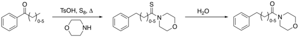 The Kindler modification of the Willgerodt rearrangement
