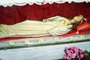 Statue of Saint Filomena in Molve, Croatia
