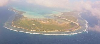 Bonriki - Tarawa and Airport Bonriki, view from east side