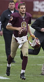 Quarterback Kirk Cousins after the comeback victory against the Tampa Bay  Buccaneers in 2015 0ae6c8349