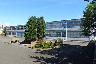 Methil - Kirkland High School, taken shortly before demolition in 2016.