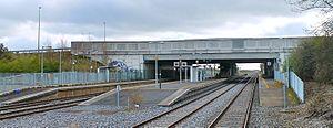Kishoge railway station - Kishoge station, as seen from a passing train