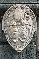 Klagenfurt Neuer Platz Lindwurmbrunnen Steinrelief fuer Maurus Abt Ossiach 15072016 3876.jpg