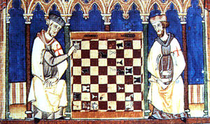 Knights Templar playing Chess. Biblioteca del ...