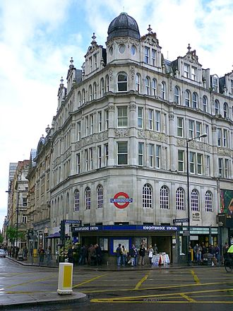 Knightsbridge tube station - Sloane Street entrance, 2004.