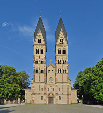 Basilica of St. Castor - Basilica of St. Castor, western front