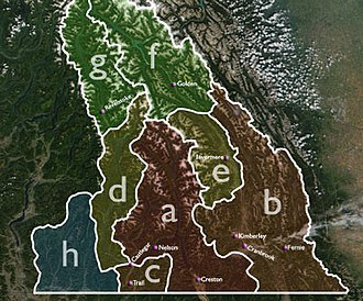 Kootenays - Various permutations of the boundaries of the Kootenays