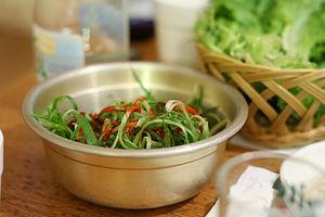 Allium fistulosum - pa-muchim (eaten with samgyeopsal)