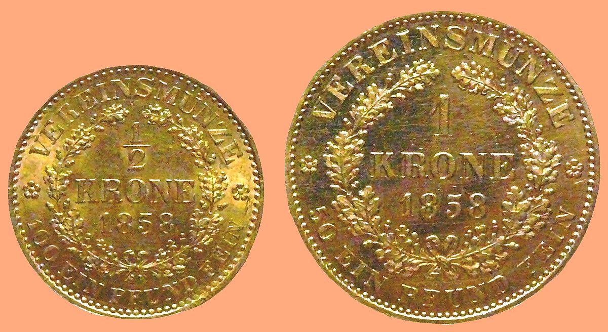 Krone Vereinsgoldmünze Wikipedia