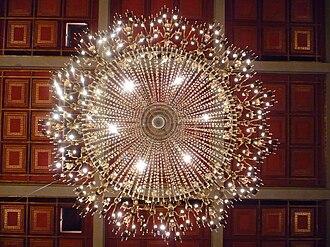 Kurhaus of Baden-Baden - One of the many elegant chandeliers in the Kurhaus.