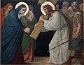 Kruisweg Sint-Pancratiuskerk, Heerlen, statie 04 Jezus ontmoet zijn bedroefde moeder.jpg