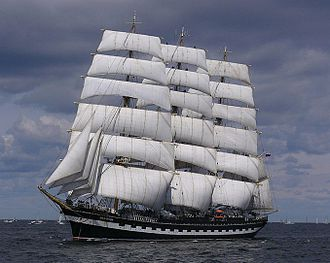 Flying P-Liner - The Kruzenshtern (ex-Padua) under sail