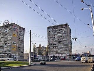 95th Block, Kryvyi Rih street in Kryvyi Rih, Ukraine