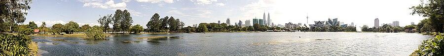 吉隆坡湖滨公园全景