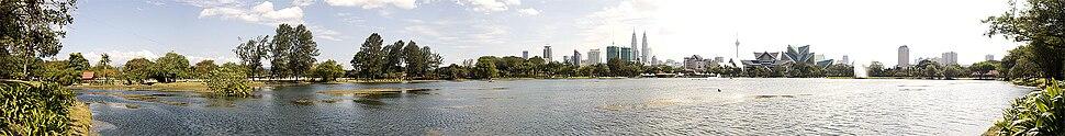 The view of Kuala Lumpur from Titiwangsa Lake Gardens