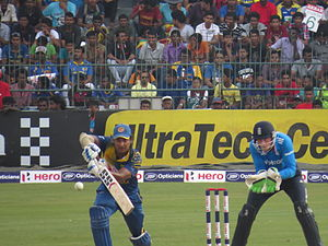 Kumar Sangakkara - Kumara Sangakkara batting against England in 2014 at the R.Premadasa Stadium in Colombo