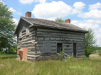 National Register of Historic Places listings in Williams County, Ohio - Image: Kunkle Log House