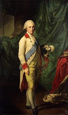 Anton Graff: Kurfürst Friedrich August III. von Sachsen, Öl auf Leinwand, 1795. Augusts Unterschrift: (Quelle: Wikimedia)