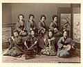 Kusakabe Kimbei - 11. Playing samisen, tsudzumi, fuye, and taiko.jpg