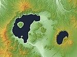 Kussharo Caldera & Mashu Caldera Relief Map, SRTM-1.jpg
