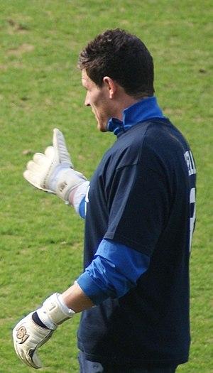 Kyle Letheren - Letheren warming up for Kilmarnock in 2012