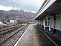 Kyle of Lochalsh railway station, Ross and Cromarty - Platform 2 view south towards Skye.jpg
