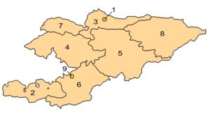 Províncias do Quirguistão.