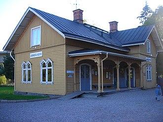 Läggesta railway station - Läggesta Lower Railway Station