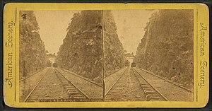 Lehigh Coal & Navigation Company - Image: L. & S. R. R. (Lehigh & Susquehana Railroad) cut, Mauch Chunk, from Robert N. Dennis collection of stereoscopic views