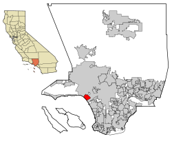 LA County Incorporated Areas Santa Monica highlighted.svg