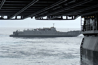 Hurricane Katrina disaster relief - Landing craft heads to Louisiana from USS Bataan