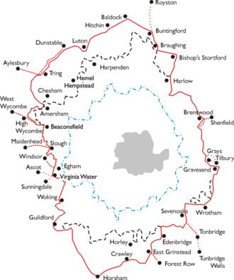 London Passenger Transport Board - Image: LPTA map