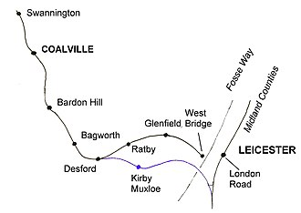 Leicester and Swannington Railway - Route of the railway