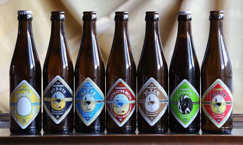 Les différentes bières de la brasserie Brouwerij 't Ij à Amsterdam - Photo d'Aloxe