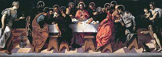 San Marcuola - Image: La Última Cena (Iglesia de San Marcuola, Venecia, 1547) Tintoretto