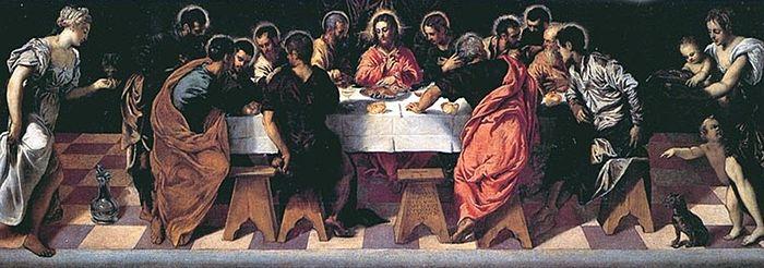 La Última Cena (Iglesia de San Marcuola, Venecia, 1547) - Tintoretto