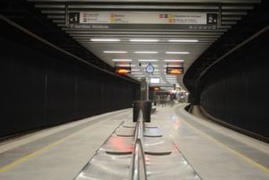 La Sagrera-Meridiana station - The Rodalies de Catalunya station.