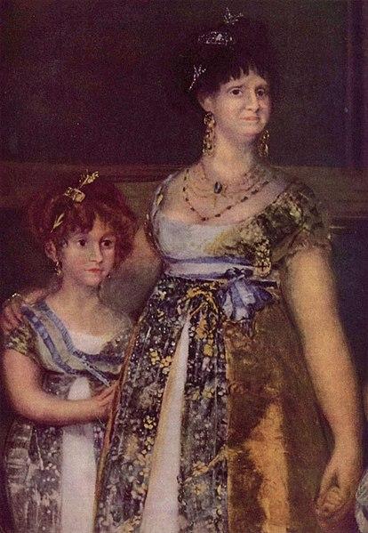 File:La familia de Carlos IV, Francisco de Goya (detail 1).jpg