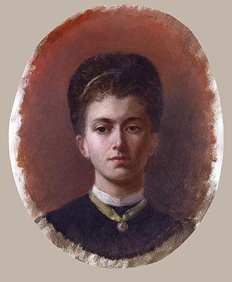 Elizabeth Thompson - Self-portrait, 1869
