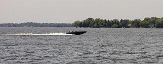 Lake Cadillac - Boating is a popular activity on Lake Cadillac